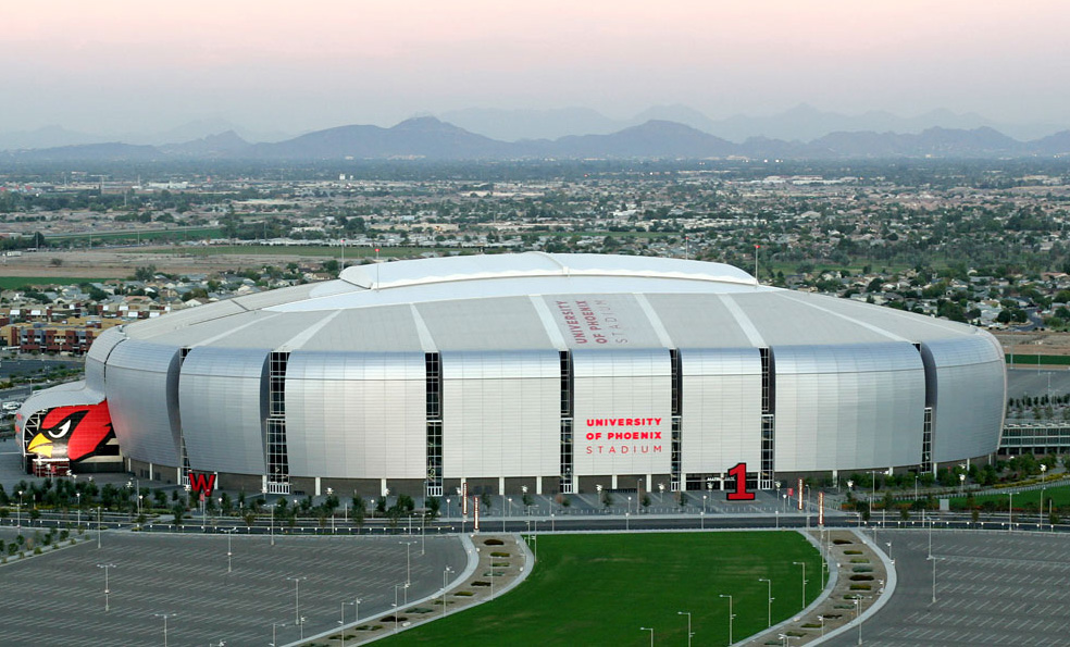 Arizona cardinals stadium painted by our Glendale painting professionals.